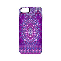 India Ornaments Mandala Pillar Blue Violet Apple Iphone 5 Classic Hardshell Case (pc+silicone)