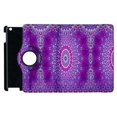 India Ornaments Mandala Pillar Blue Violet Apple iPad 3/4 Flip 360 Case