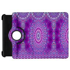 India Ornaments Mandala Pillar Blue Violet Kindle Fire HD Flip 360 Case