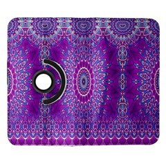 India Ornaments Mandala Pillar Blue Violet Samsung Galaxy Note II Flip 360 Case