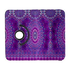 India Ornaments Mandala Pillar Blue Violet Samsung Galaxy S  Iii Flip 360 Case