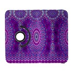 India Ornaments Mandala Pillar Blue Violet Samsung Galaxy S  III Flip 360 Case Front