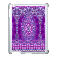 India Ornaments Mandala Pillar Blue Violet Apple iPad 3/4 Case (White)