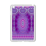 India Ornaments Mandala Pillar Blue Violet iPad Mini 2 Enamel Coated Cases Front