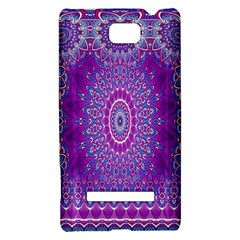 India Ornaments Mandala Pillar Blue Violet HTC 8S Hardshell Case