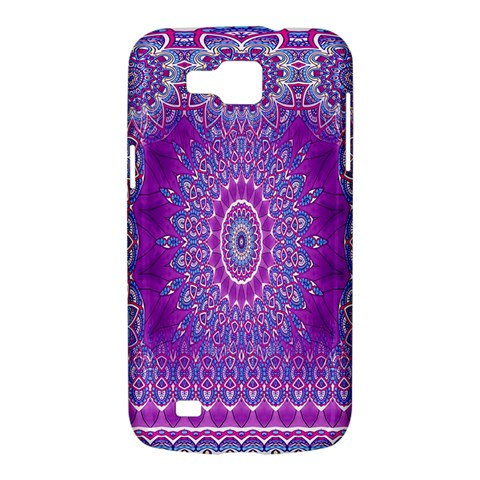 India Ornaments Mandala Pillar Blue Violet Samsung Galaxy Premier I9260 Hardshell Case