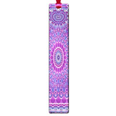 India Ornaments Mandala Pillar Blue Violet Large Book Marks