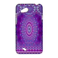 India Ornaments Mandala Pillar Blue Violet HTC Desire VC (T328D) Hardshell Case