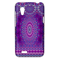 India Ornaments Mandala Pillar Blue Violet HTC Desire VT (T328T) Hardshell Case