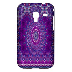 India Ornaments Mandala Pillar Blue Violet Samsung Galaxy Ace Plus S7500 Hardshell Case