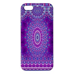 India Ornaments Mandala Pillar Blue Violet Apple Iphone 5 Premium Hardshell Case