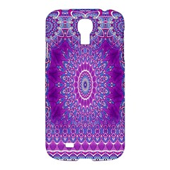 India Ornaments Mandala Pillar Blue Violet Samsung Galaxy S4 I9500/I9505 Hardshell Case