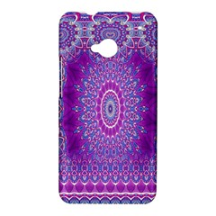 India Ornaments Mandala Pillar Blue Violet HTC One M7 Hardshell Case