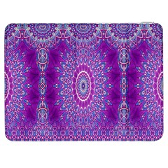 India Ornaments Mandala Pillar Blue Violet Samsung Galaxy Tab 7  P1000 Flip Case