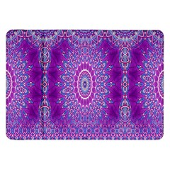 India Ornaments Mandala Pillar Blue Violet Samsung Galaxy Tab 8.9  P7300 Flip Case
