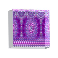 India Ornaments Mandala Pillar Blue Violet 4 x 4  Acrylic Photo Blocks