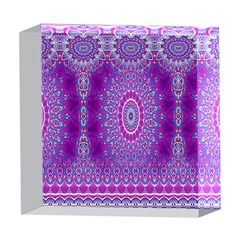 India Ornaments Mandala Pillar Blue Violet 5  x 5  Acrylic Photo Blocks