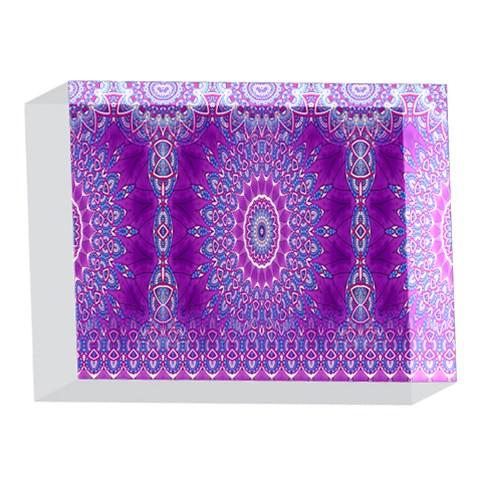 India Ornaments Mandala Pillar Blue Violet 5 x 7  Acrylic Photo Blocks