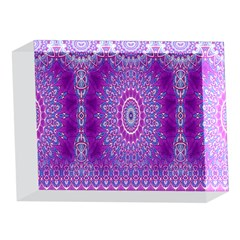 India Ornaments Mandala Pillar Blue Violet 5 x 7  Acrylic Photo Blocks