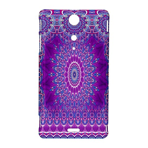 India Ornaments Mandala Pillar Blue Violet Sony Xperia TX