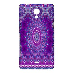 India Ornaments Mandala Pillar Blue Violet Sony Xperia T