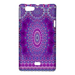 India Ornaments Mandala Pillar Blue Violet Sony Xperia Miro
