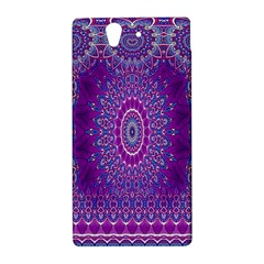 India Ornaments Mandala Pillar Blue Violet Sony Xperia Z