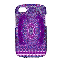 India Ornaments Mandala Pillar Blue Violet BlackBerry Q10