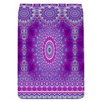 India Ornaments Mandala Pillar Blue Violet Flap Covers (S)  Front