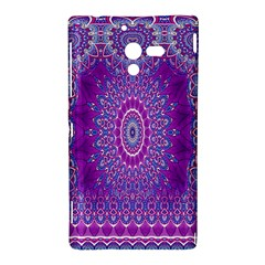 India Ornaments Mandala Pillar Blue Violet Sony Xperia ZL (L35H)