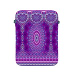 India Ornaments Mandala Pillar Blue Violet Apple iPad 2/3/4 Protective Soft Cases Front