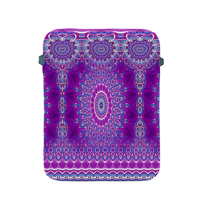 India Ornaments Mandala Pillar Blue Violet Apple iPad 2/3/4 Protective Soft Cases