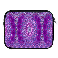 India Ornaments Mandala Pillar Blue Violet Apple iPad 2/3/4 Zipper Cases