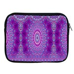 India Ornaments Mandala Pillar Blue Violet Apple iPad 2/3/4 Zipper Cases Front