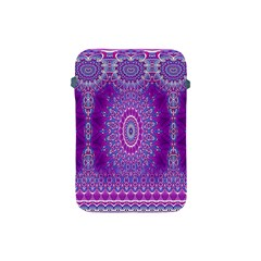 India Ornaments Mandala Pillar Blue Violet Apple iPad Mini Protective Soft Cases