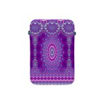 India Ornaments Mandala Pillar Blue Violet Apple iPad Mini Protective Soft Cases Front