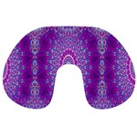 India Ornaments Mandala Pillar Blue Violet Travel Neck Pillows Front