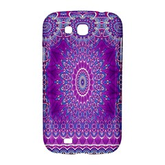 India Ornaments Mandala Pillar Blue Violet Samsung Galaxy Grand GT-I9128 Hardshell Case