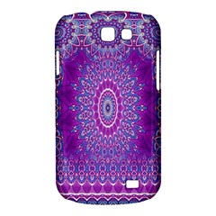 India Ornaments Mandala Pillar Blue Violet Samsung Galaxy Express I8730 Hardshell Case