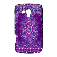 India Ornaments Mandala Pillar Blue Violet Samsung Galaxy Duos I8262 Hardshell Case