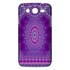 India Ornaments Mandala Pillar Blue Violet Samsung Galaxy Mega 5.8 I9152 Hardshell Case
