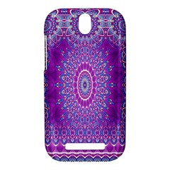 India Ornaments Mandala Pillar Blue Violet HTC One SV Hardshell Case