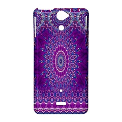India Ornaments Mandala Pillar Blue Violet Sony Xperia V