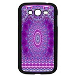 India Ornaments Mandala Pillar Blue Violet Samsung Galaxy Grand DUOS I9082 Case (Black) Front