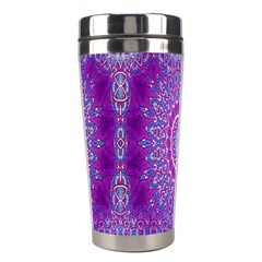 India Ornaments Mandala Pillar Blue Violet Stainless Steel Travel Tumblers