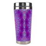 India Ornaments Mandala Pillar Blue Violet Stainless Steel Travel Tumblers Right