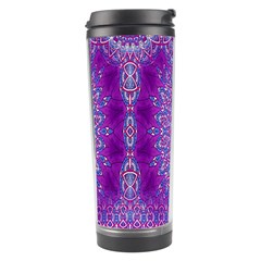 India Ornaments Mandala Pillar Blue Violet Travel Tumbler
