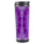 India Ornaments Mandala Pillar Blue Violet Travel Tumbler Right