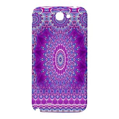 India Ornaments Mandala Pillar Blue Violet Samsung Note 2 N7100 Hardshell Back Case