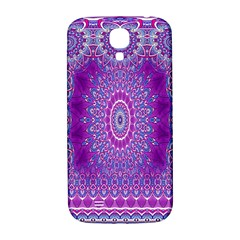 India Ornaments Mandala Pillar Blue Violet Samsung Galaxy S4 I9500/i9505  Hardshell Back Case